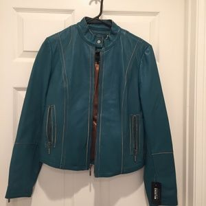 Turquoise Wilsons Leather Jacket